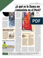 ¿A Que Se Le Llama Ser Comunista en El Perú?
