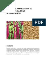 Kiwicha o Amaranto y Su Importancia en La Alimentacion