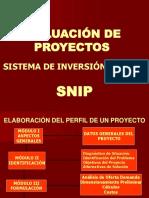 Evaluación de proyectos - Sistema de inversión SNIP