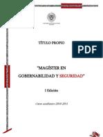 155 Magister en Gobernabilidad y Seguridad UCM