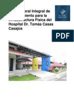 Plan Mantenimiento Infraestructura HospitalDoctorTomasCasasCasajus