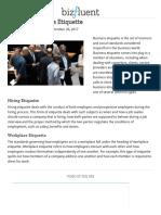 Types of Business Etiquette _ Bizfluent