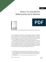 Marx y la concepción deflacionista de la historia.
