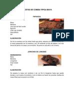 Recetas de Comida Tipica Maya