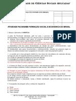 Atividade 1 Facisa Web - Formação Social e Política Do Brasil Questionário)