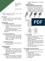 Orthopedic Impairment Handouts
