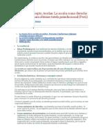 La Acción , Teorías. La Acción Como Derecho Fundamental Para Obtener Tutela Jurisdiccional