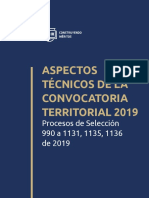Cartilla 021 Convocatoria Territorial 2019 Procesos 990 a 1131 1135 1136 de 2019