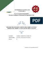 Trabajo 3 Resumen y Crítica Del Libro Las Venas Abiertas de Améria Latina