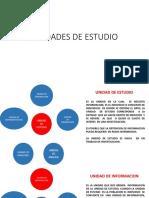 4.- Unidades de Estudio
