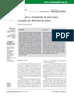 Diagnóstico y tratamiento de infecciones causadas por Helicobacter pylori
