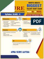 Score Class Room Syllabus Class10
