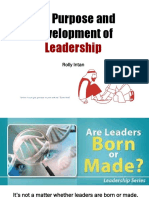 1. 6 Sept 2019 - The Purpose and Development of Leadership (Kuliah -1).ppt