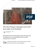 Sumaya Teli The Raw Mango Campaign is How India Views Kashmir