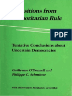 O'Donnell y Schmitter - Transitions From Authoritarian Rule. Tentative Conclusions About Uncertain Democracies