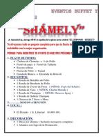 Shamely Eventos- Proforma Promociones