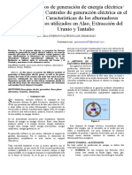 Métodos de Generación de Energía Eléctrica Trifásica, Centrales de Generación Eléctrica en El País, Características de Los Alternadores Trifásicos Utiliza