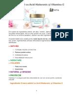 Cremă Antirid Cu Acid Hialuronic Și Vitamina C