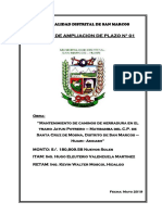 INFORME DE AMPLIACION DE PLAZO N° 01