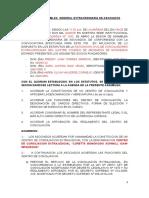 ACTA DE ASAMBLEA DE ASOCIADOS PARA CENTRO DE CONCILIACION REGLAMENTO LORETTA BONOKOSKI.doc
