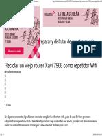 Reciclar Un Viejo Router Xavi 7968 Como Repetidor Wifi « Soloelectronicos