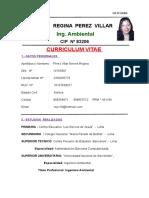Curriculum Vitae de Nieves Regina Perez Villar Ing Ambiental CIP 83206 (1)