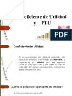 Coeficiente de Utilidad y PTU
