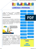 Energía cinética y potencial