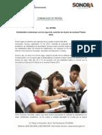 10-09-19 Estudiantes sonorenses son los que más avanzan en el país en examen Planea 2019