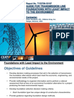 GUIDE FOR TRANSMISSION LINE FOUNDATIONS WITH LEAST IMPACT TO THE ENVIRONMENT: