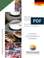 Estudio de Mercado Artesanías Alemania