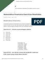 Matemática Financeira Exercícios Resolvidos Passo a Passo