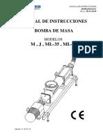Manual Bomba de Masa