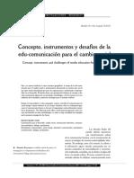 Concepto, Instrumentos y Desafios de La Edu-comunicacion Para El Cambio Social. Barranquero