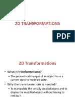 2d Transformation