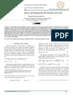 Empirical Analyze of Exogenous Economic Growth
