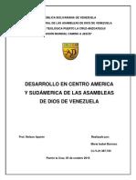 Informe Desarrollo en Centro América y Sudamérica