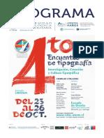 Programa 4to Encuentro Tipografia Utem