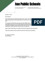 Gun Threat Letter