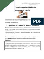 Ejemplos Pràcticos Sobre Liquidaciòn de Contratos de Trabajo - Semana Uno-