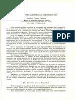 La Interpretación de La Constitución Patricio Zapata Larraín