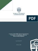 Public Interest Commissioners Report AER ICORE