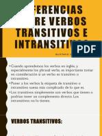 Gustavo Garcia Hernandez Diferencias Entre Verbos Transitivos e Intransitivos