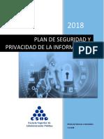 Plan de Seguridad y Privacidad de La Información v 1.0