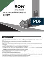 Alarma Residencial Positron Manual de Uso e Instalacion
