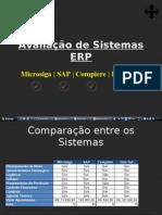 Avaliação de Sistemas ERP