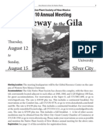 2010 Annual Meeting Gateway to the Gila