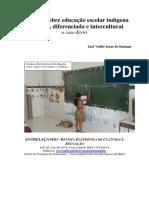 SANTANA. J. V. J -  Reflexões sobre educação escolar indígena específica, diferenciada e intercultural -  o caso kiriri.pdf