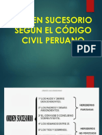 Segun El Codigo CIVIL Los Ordenes Sucesorios