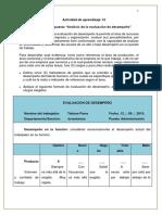 Propuesta Análisis de La Evaluación de Desempeño
